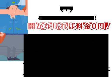 開かなければ料金0円!